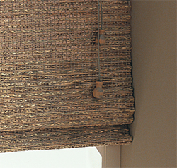 Wood Weave Motorised Roller Blinds Office Blinds