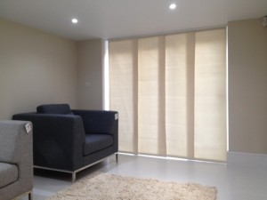 Panel Blinds Traditional Interior Design