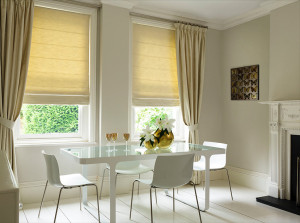 Roman Blinds Manufactured with an Ecru Lining