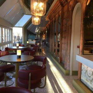 Harrods champagne terrace blinds